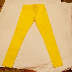 Forever 21 Yellow Skinny Jeans